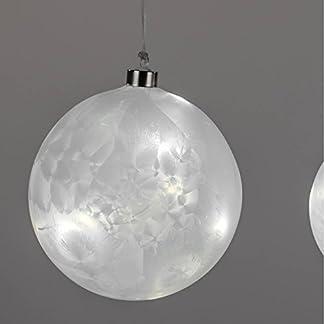 Formano-LED-Deko-Kugel-Hnger-Eiszeit-15cm-Timer-Christbaumschmuck-Christbaumkugel-Weihnachtsbaumkugel-Weihnachtsbauschmuck