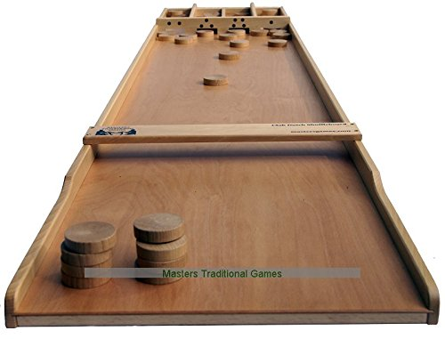 Masters-Club-Dutch-Shuffleboard-Beech-Sjoelbak-with-concave-disks