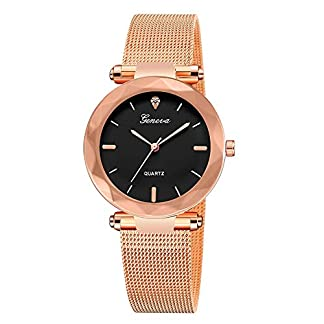 Herren-Uhren-Lolamber-Armbanduhr-fr-Herren-Damen-Slim-Uhr-Armband-Mnner-Edelstahl-Geschfts-Klassisch-Analog-Quarz-Dnn-Armbanduhr-Gents-Luxus-Elegant-Gold-Uhr-mit-Schwarz-Zifferblat
