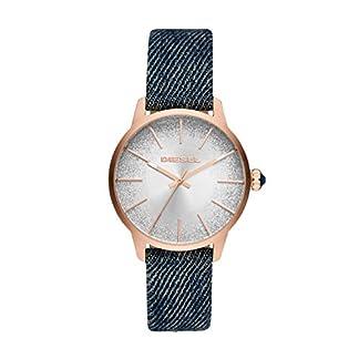 Diesel-Damen-Analog-Quarz-Uhr-mit-Stoff-Armband-DZ5566