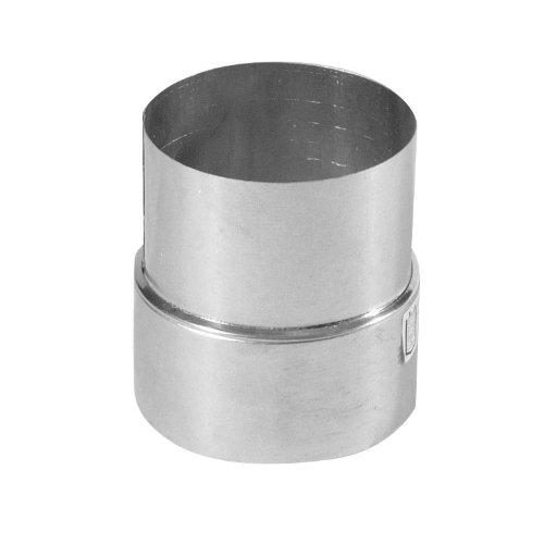 Kamino Flam Reduzierung silber, rostfreie Rohrreduzierung aus Stahl, geprüft nach Norm EN 1856-2, zum Anschluss von 130 mm in ein 120 mm Rohr
