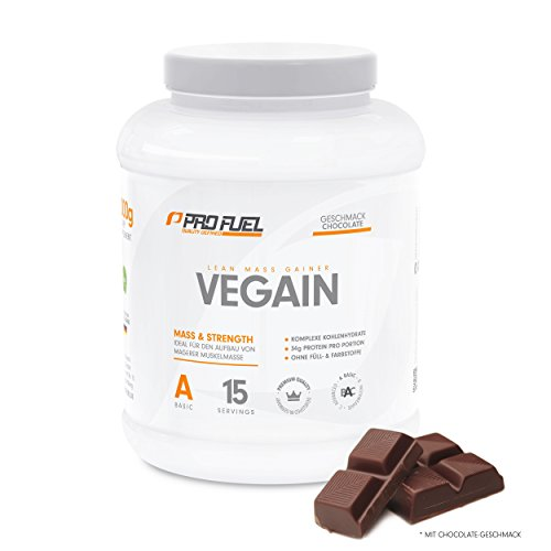 PROFUEL® Vegain Lean Mass Gainer Schokolade – Weight Gainer! Mehr Muskelmasse durch eine Innovative Formel – OHNE Maltodextrin – VEGAN, 2000 g