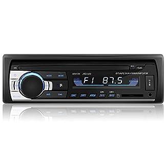 YOHOOLYO-Autoradio-mit-Bluetooth-Freisprecheinrichtung-FM-AM-Radio-Tuner-1-Din-USBSDAux-Anschluss-Fernbedienung-und-ISO-Kabel-MEHRWEG