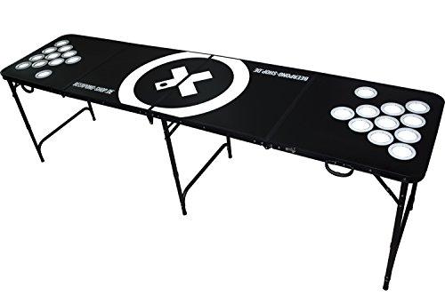 Audio-Cup-Hole-BLACK-LINE-Table-Beer-Pong-Tisch-inkl-6-Blle-Regelwerk-Becherhalter