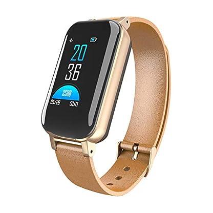 Smart-Watch-Mnner-mit-Bluetooth-Kopfhrer-IP67-wasserdicht-Untersttzung-Siri-BT-Call-Fitness-Armband-Smart-Band