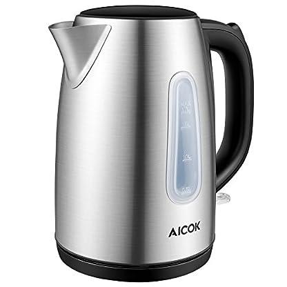Wasserkocher-17-Liter-Edelstahl-Wasserkocher-2200watt-Automatische-Abschaltung-Kochendem-Trockenschutz-BPA-Frei-360-Grad-Pirouette-Silber-durch-Aicok