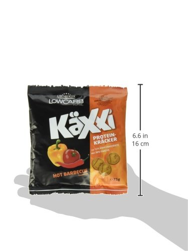 Layenberger LowCarb.one Protein-Kräcker Käxxi Hot Barbecue, 3er Pack (3 x 75 g)