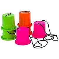 Betzold-850102-Laufstelzen-Set-3-Paar-aus-sehr-robustem-Kunststoff-Kinder-Becherstelzen