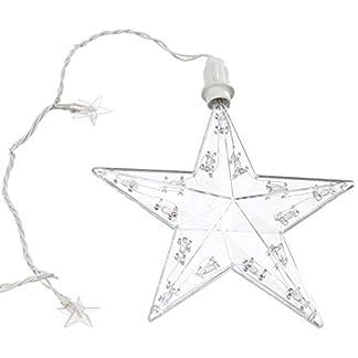 Hellum-506037-Sternenkette-aus-Kunststoff-Innen-und-Auenbeleuchtung-18-tlg-Sternenkette-3-Strnge-Strangabstand-35cm-3-groe-15-kleine-Sterne-klar-B-09-m-H-095-m-Zuleitung-425m-Kabel-wei-inkl-Trafo