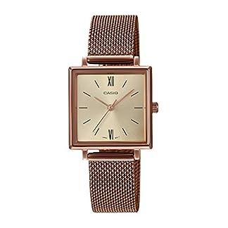 CASIO-Unisex-Erwachsene-Analog-Quarz-Uhr-mit-Edelstahl-Armband-LTP-E155MR-9BEF