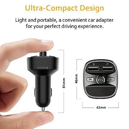Cocoda-Bluetooth-FM-Transmitter-fr-Auto-Blaue-Umgebende-Leuchte-Drahtloser-Radio-Kfz-Empfnger-Adapter-mit-Freisprecheinrichtung-Dual-USB-Ladegert-5V24A-und-5V1A-SD-Karte-USB-Disk