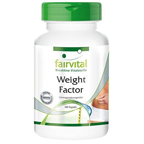 Weight Factor – Gewicht-Faktor, natürliche Vitalstoffe mit thermogenen Eigenschaften, 180 Kapseln