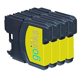 4-Go-Inks-Gelb-Tintenpatronen-ersetzen-Brother-LC980Y-LC1100Y-KompatibelNicht-OEM-zur-verwendung-mit-Brother-DCP-und-MFC-Drucker