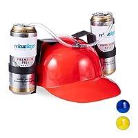 Relaxdays-Party-Trinkhelm-Helm-mit-Schlauch-fr-2-Dosen-Bier-Spaartikel-Fasching-u-Fuball-Bierhelm-versch-Farbe