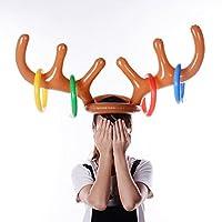 HKFV-Aufblasbare-Rentier-Weihnachten-Hut-Geweih-Ring-Wurf-Urlaub-Party-Spiel-Spielzeug-Aufblasbares-Elchgeweih-Toss-Rings