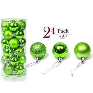 YIKEF-Multi-Use-bruchsicher-stofester-Geschenk-Verpackungskasten-fr-Weihnachtskugeln-Das-ist-fr-Festsdekoration-wiederverwendbar-tragbar-fr-WeihnachtsbaumschmuckRot-Silber-Grn