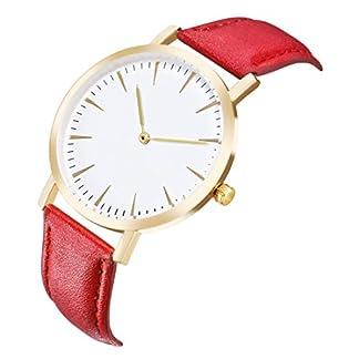 Godagoda-Damenuhr-Analog-Quarz-Armbanduhr-Elegant-Einfach-Casual-Mode-mit-Leder-Armband-Uhr-fr-Jungen-und-Mdchen