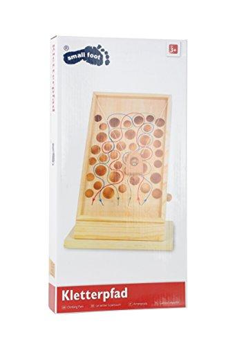 Kletterpfad-Geschicklichkeitsspiel-aus-Holz-mit-bunt-eingezeichneten-Pfaden-Motorikspielzeug-kann-auf-jeder-Tischplatte-platziert-werden
