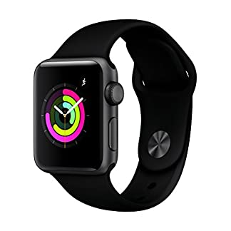 Apple-Watch-Series-3-GPS-Aluminium-Space-Grey-Case-grauem-Gehuse-Sport-Band-Black-Sportarmband-schwarz-38mm-MQKV2ZDA