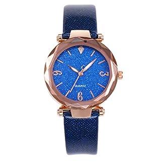 Casual-Uhren-Damen-Quarz-Lederband-Starry-Sky-Watch-Analoge-Armbanduhren