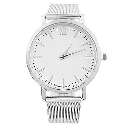 MJARTORIA-Damen-Armbanduhr-Business-Stil-Analog-Quarz-Damenuhr-Edelstahl-Milanese-Armband-Silber-Farbe-24cm