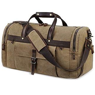 Reisetasche-Herren-Weekender-mit-Schuhfach-Wasserdicht-Groe-Retro-Canvas-Reisetaschen-Freizeittasche-Sporttasche-Handgepck-fr-Mnner-Damen-55L
