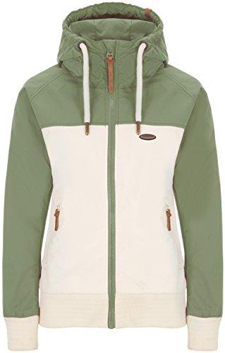 ALIFE & KICKIN Damen Jacke MALIA Jacket Übergangsjacke Windbreaker Kapuze 2 Color Design Block vegan hergestellt (verschiedene Farben) XS-XL