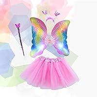 Elegantes-Set-mit-Blinkenden-Schmetterlingsflgeln-und-Flgeln
