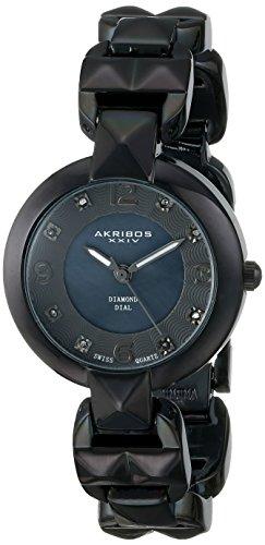 Akribos-XXIV-Damen-Empire-Analog-Quarz-Armbanduhr-mit-Alloy-Armband