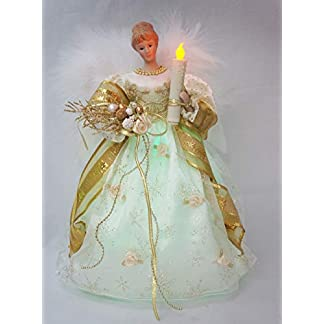CHENZHAOL-Baumkronen-Cosette-Weihnachtslicht-Engel-Tree-Topper-Porzellanpuppe-Zeitlich-festgelegt-Ornament-12-Zoll-30-cm-Hhe