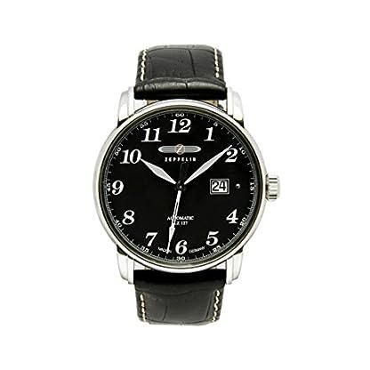 Zeppelin-Herren-Analog-Automatik-Uhr-mit-Leder-Armband-76502