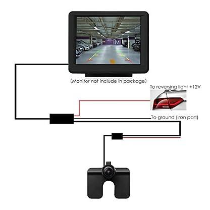 Auto-Vox-CAM6-Auto-Rckfahrkamera-170-Grad-Weitwinkelobjektiv-IP68-Wasserdichte-stark-Nachtsicht-fr-RckfahrhilfeEinparkhilfe-ideal-fr-die-meisten-Automodell-inklusiv-TruckRV