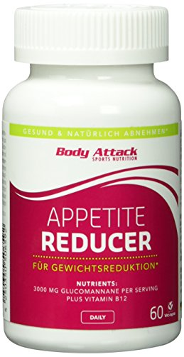 Body Attack Appetite Reducer 60 Kapseln, 1er Pack (1 x 0.052 kg)