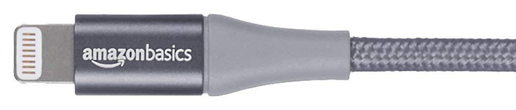 AmazonBasics-USB-A-auf-Lightning-Kabel-mit-doppelt-geflochtenem-Nylon-Apple-MFi-zertifiziert-Dunkelgrau-10-cm