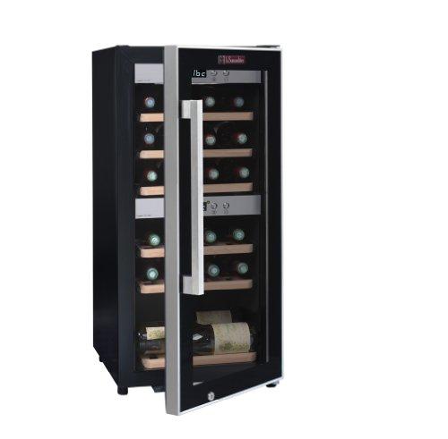 La-Sommelire-ECS252Z-Weinkhlschrank-870-cm-Hhe-Zweizonen-Weintemperierschrank-mit-Kompressor-Digital-Anzeige-der-Temperatur-edelstahl-und-schwarz