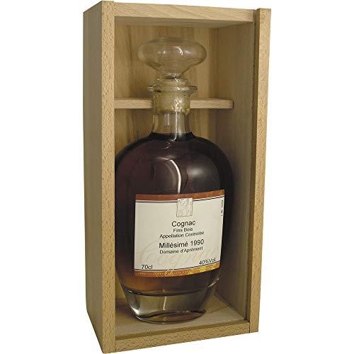 Cognac-1990-Jahrgangs-Flasche-1990-Fins-Bois-AOC-Millsime-Domaine-dAprement-Cognac-Charente-Frankreich-700ml-Fl