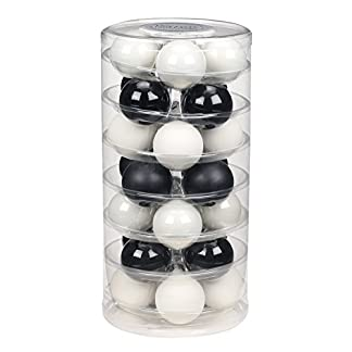 Inge-glas-15212D003-MO-Glaskugel-60-mm-28-StckDose-Black-White-Mix-Porzellan-wei-matt-opal-Schwarz-matt-opal