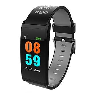Yumimi88-Fitness-TrackerWasserdicht-Fitness-Armband-mit-Pulsmesser-Zoll-Smartwatch-Aktivittstracker-Pulsuhren-Schrittzaehler-Uhr-Smart-Watch-Fitness-Uhr-fr-Damen-Herren