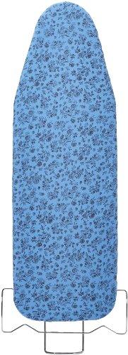 WENKO 1170997500 Bügeltischbezug Universal Keramik Blume – Hightech Hitzereflexion, Easy Glide, Universalgröße für S bis XXL, Baumwolle, Blau