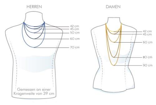 Unbespielt Damen-Halskette Lederband Leder Schwarz 100 cm x 2 mm Kürzbar G03046
