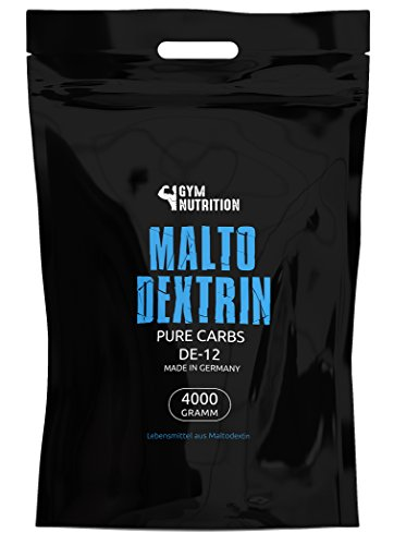 GYM-NUTRITION Hardcore Malto-dextrin | Feines Kohlenhydrate Pulver | Beliebt bei Fitness Powerlifing & Bodybuilding | Ideal für Hardgainer | Made in Germany | Maltodextrin 12 | 4 kg Beutel