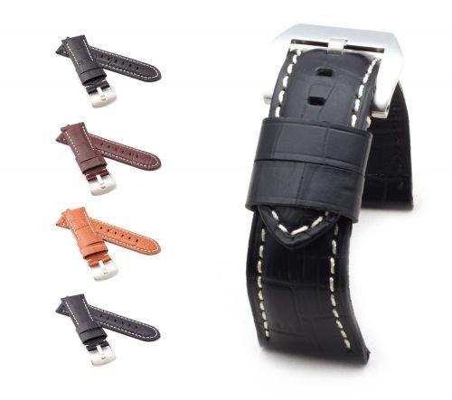 BOB-Uhrenarmband-Alligator-Style-Modell-Firenze-4-Farben-neu-Gre-Uhr-26-mm-Schliee-22-mm