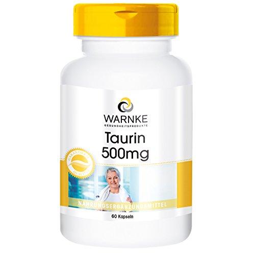 Warnke Gesundheitsprodukte Taurin 500mg – 60 Tabletten
