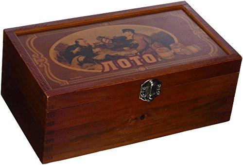 Lotto-in-Holzkiste-Bingo-Loto-Russisches-Spiel