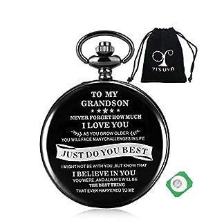YISUYA-Taschenuhr-Gravierte-Geschenke-mit-Stoffbeutel-fr-Mnner-Herren-Geburtstagsgeschenke