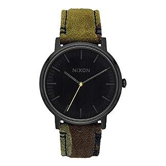 Nixon-Unisex-Erwachsene-Analog-Quarz-Uhr-mit-Leder-Armband-A1058-3054-00