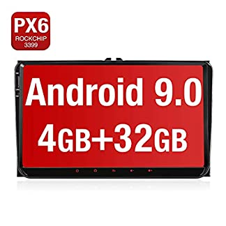 PUMPKIN-9-Zoll-Android-90-Autoradio-fr-VW-Radio-Mit-PX6-RK-3399-4G32G-Untersttzt-Bluetooth-Navi-DAB-WiFi-4G-Android-Auto-USB-MicroSD-2-Din