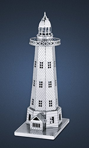 Fascinations-Metal-Earth-MMS040-502564-Lighthouse-Konstruktionsspielzeug-1-Metallplatine-ab-14-Jahren