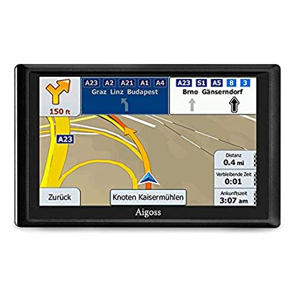 Aigoss-Navigation-fr-Auto-7-Zoll-Touchscreen-8GB-GPS-Navi-Navigationsgert-mit-Bluetooth-POI-Sprachfhrung-Fahrspurassistent-LKW-PKW-KFZ-mit-Lebenszeit-Kostenlose-Kartenupdates-2019-Europa-Karten