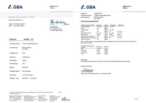 WEIGHT & MASS GAINER Vegan | V-GAINER | Vanille 2 kg | Masseaufbau & Zunehmen | ohne Maltodextrin & Zucker | Carbs & Protein 2000g | laktosefrei | hergestellt in Deutschland